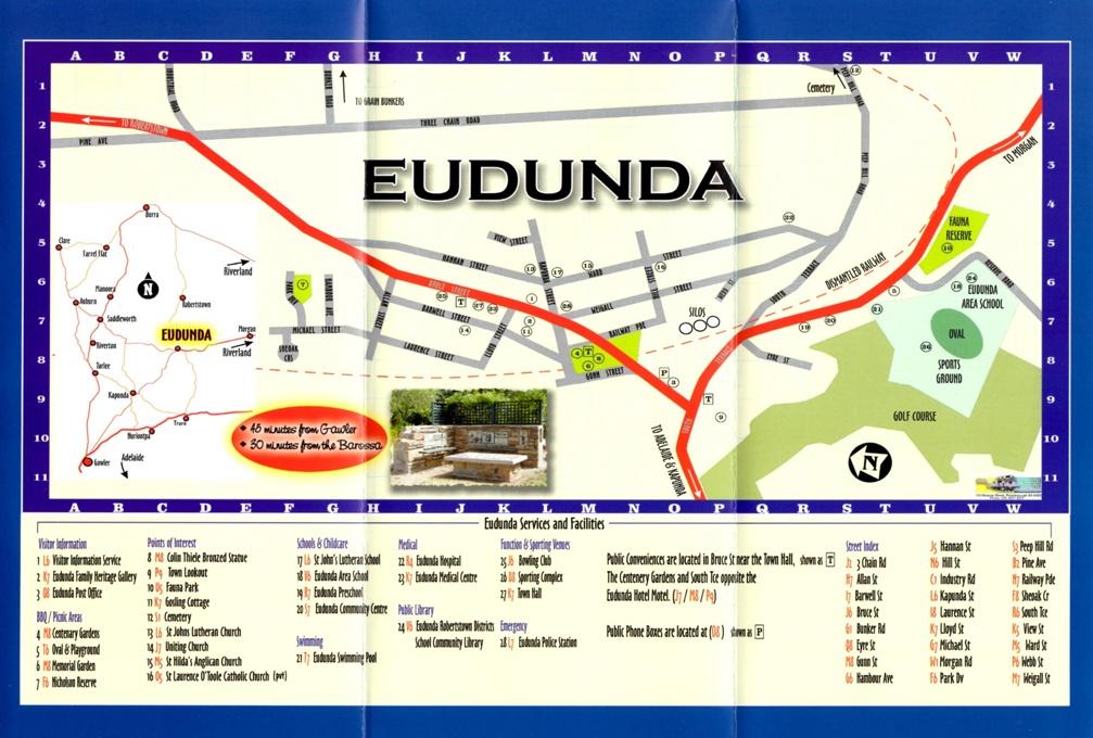 Image of Eudunda Street Map