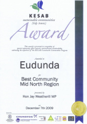 Eudunda Best Community Award Dec 2009