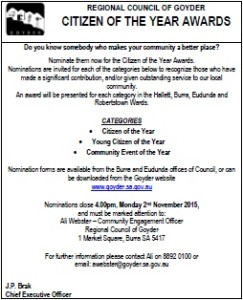 Citizen of the Year Awards advert - thumb