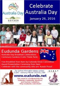 Australia Day Breakfast Eudunda 2016