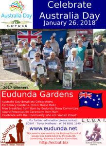 Australia Day Eudunda 2018 - flier