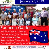 Australia Day Breakfast – Eudunda 2019 – All Welcome