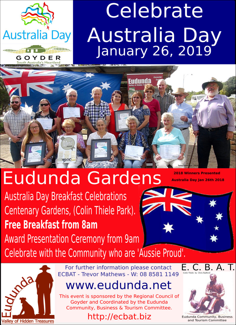 Australia Day Breakfast at Eudunda 2019