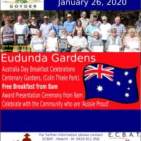 Australia Day Breakfast – Eudunda – 26th Jan 2020