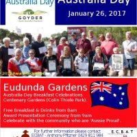 Australia Day Breakfast – Eudunda 2017 – All Welcome