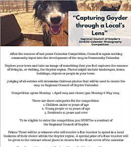 Capturing Goyder through a Locals Lens 2019