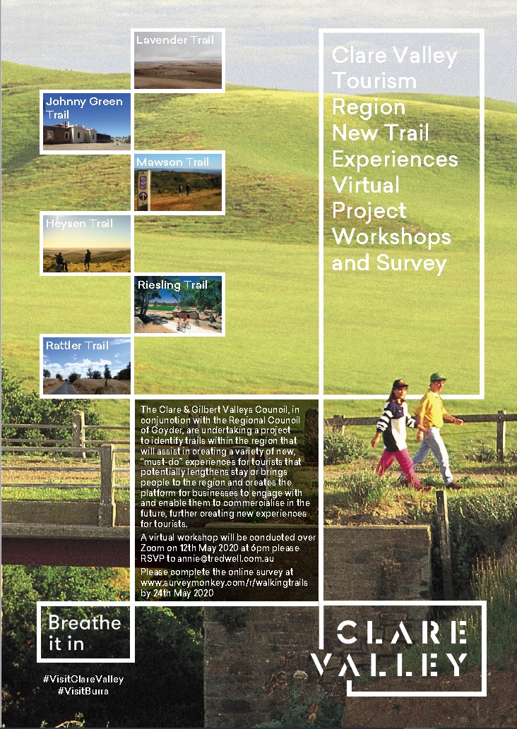 Clare Valley Tourism Region New Trail Experiences Virtual Project Workshops and Survey