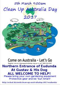 Clean Up Australia Day - Eudunda 2017 flier