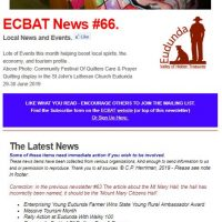 Southern Goyder News from ECBAT #66
