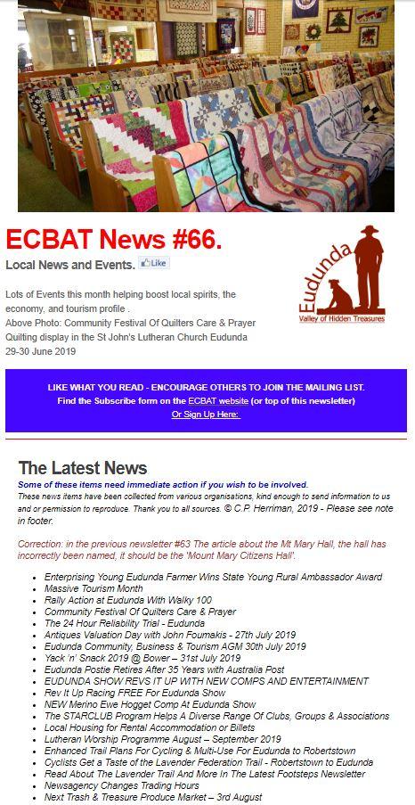 Cover of SG News No 66 - 250719