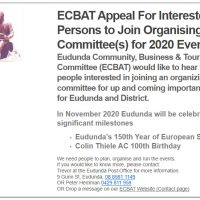 Appeal For Interested Persons – Join Organising Committee for 2020 Events