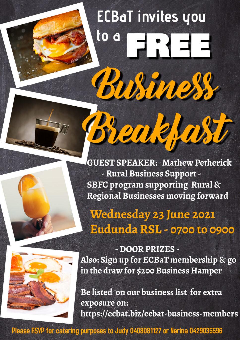 ECBAT Business Breakfast 23rd June 2021