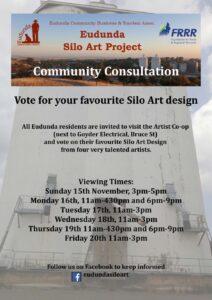 ECBAT Community Consultation - View Artist Concepts for Silo Art from 15th - 20th Nov 2020