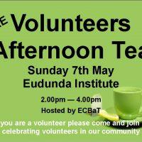 ECBAT Celebrating Volunteers – FREE Afternoon Tea
