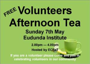 ECBAT Volunteer Afternoon Tea 7th May 2017