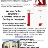 ECBAT Announce Eudunda Caravan Park Cabin Purchase Project