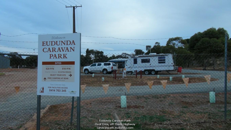 Eudunda Caravan Park Welcome