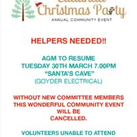 Eudunda Christmas Party – AGM 30th March 2021 – Your Support Needed