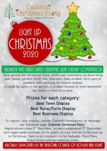 Eudunda Christmas Party - Light Up Christmas 2020 - Poster
