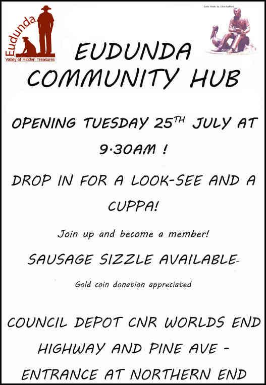 Eudunda Community Hub - Opening Flier 25th July 2017 Poster
