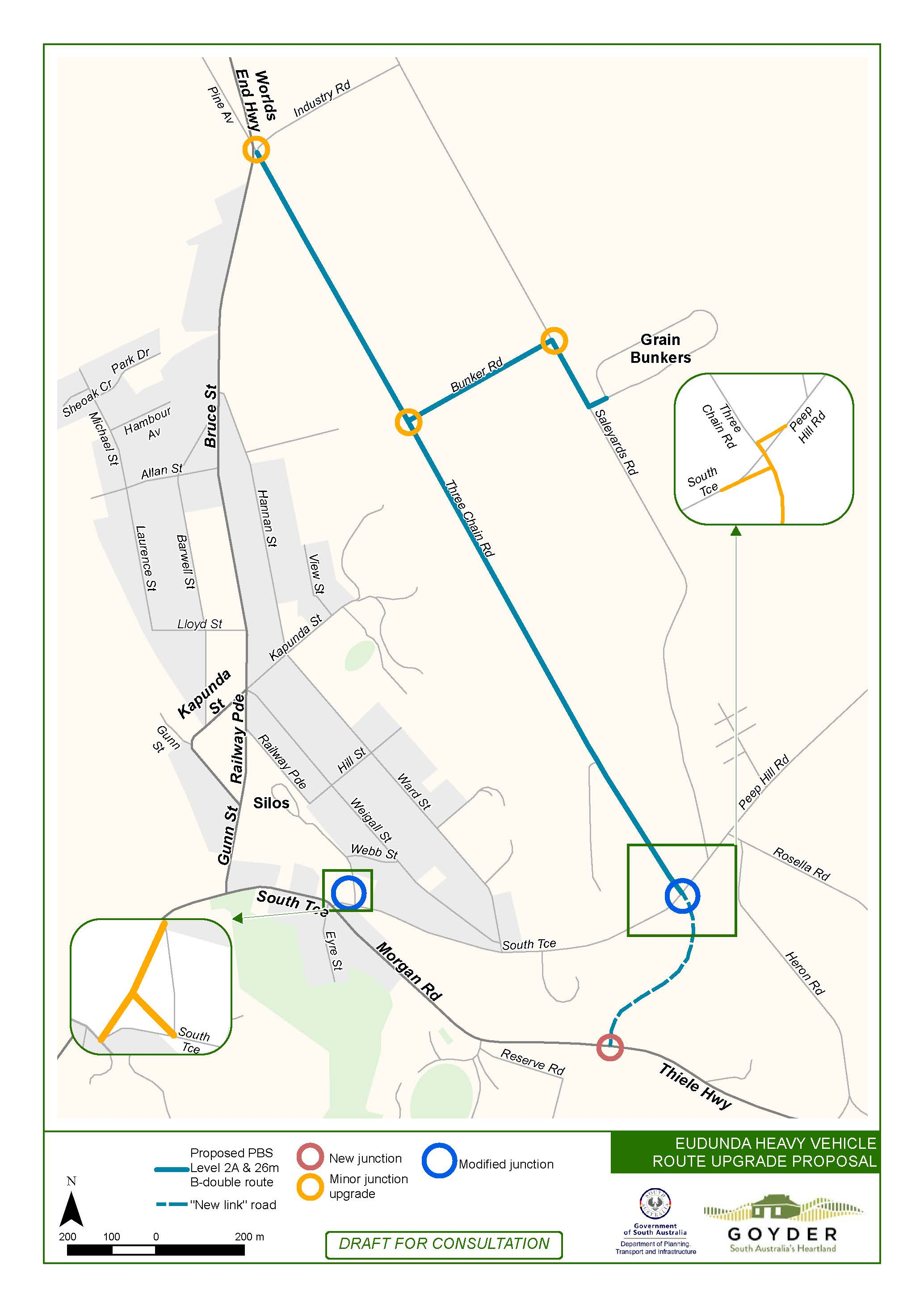 Eudunda Heavy Vehicle Bypass proposed by Council 3rd Nov 2016