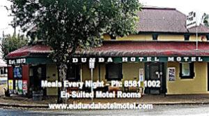Eudunda Hotel Motel - Business Card