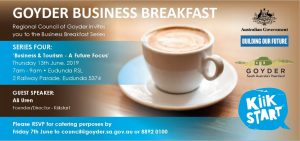 Goyder Business Breakfast 13th June 2019