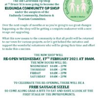 You Are Invited To Eudunda Community Op Shop Opening – 17th Feb 2021