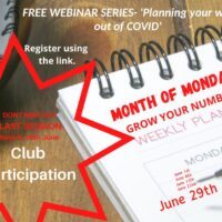 "The ""Month of Mondays"" Club Development Webinar series – Session 5 Mon 29th June 2020"