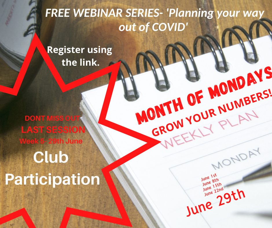 Increasing participation in your club - Part 5 of the COVID Series