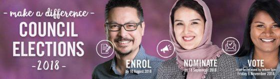 Local council elections 2018 flier