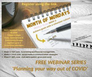 Month Of Mondays - Week 2 webinars- volunteers
