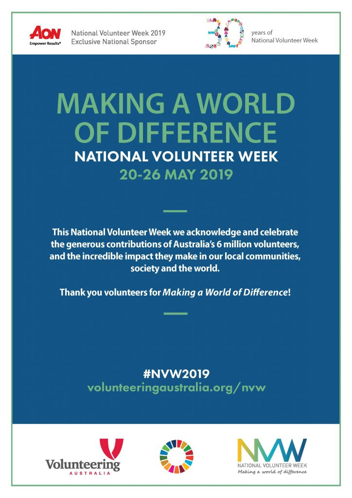 National Volunteer Week 20-26 May 2019 - Posters