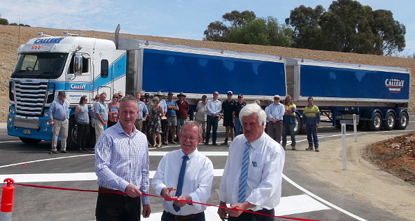 Official Opening Eudunda Heavy Vehicle Bypass - Ribbon Cutting