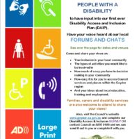 Have a Say in Council's Disability Access & Inclusion Plan (DIAP) – 14th Sept