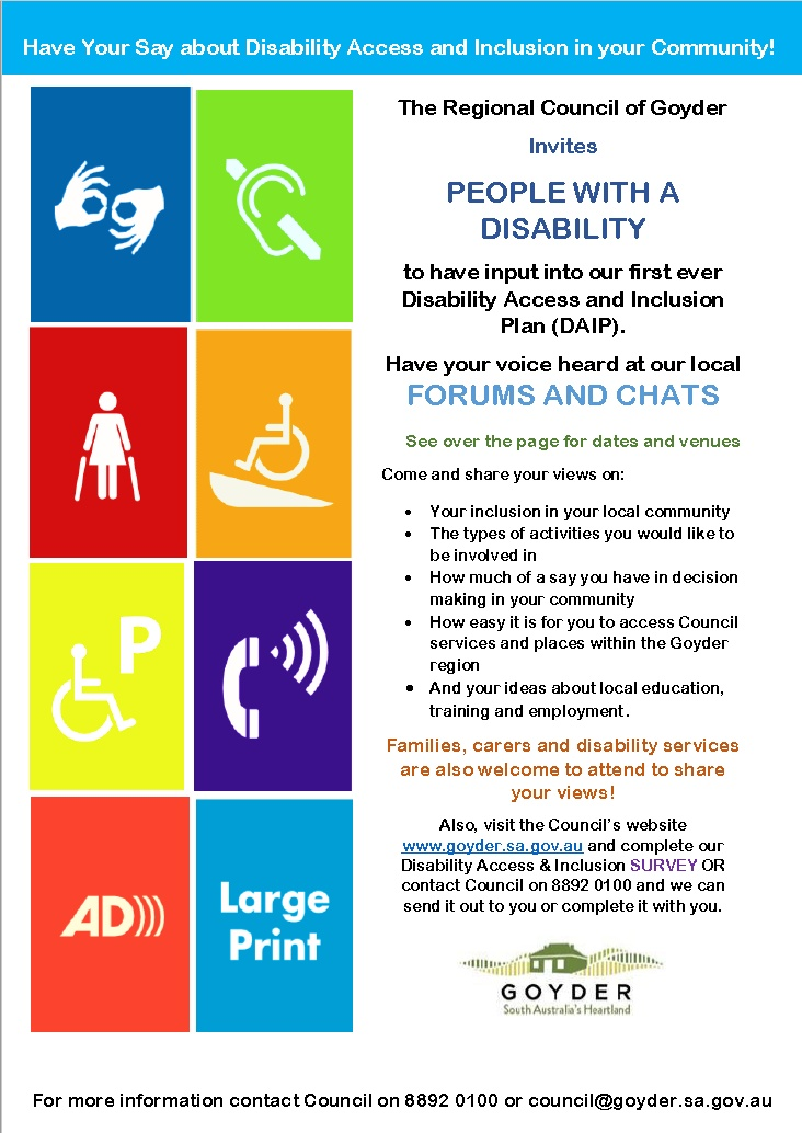 Regional Council of Goyder - Disability Access and Inclusion Plan (DAIP) Sept 2020