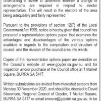 Eudunda Ward Currently Under Represented At Council