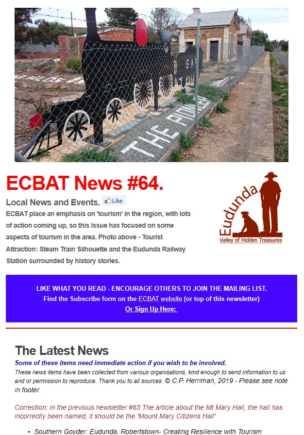 SG News From ECBAT No 64 060619 cover