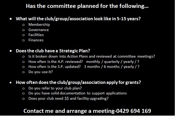StarClub Club Development Program - Club Planning for Future