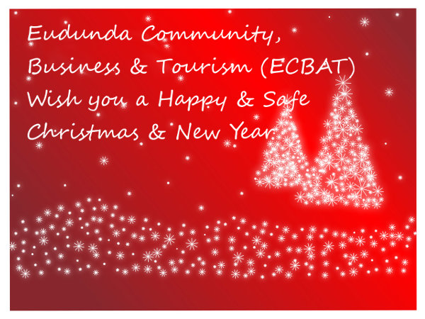 Red Merry Christmas Message from ECBAT